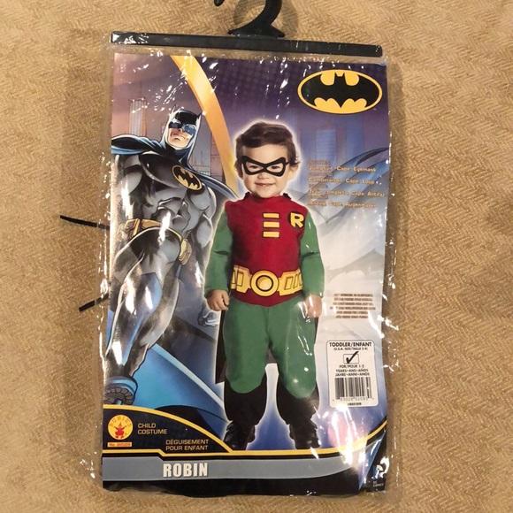 Like new toddler Robin costume. Original packaging